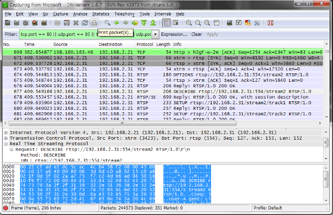 CS-WMV04N2 RTSP Packet Analysis